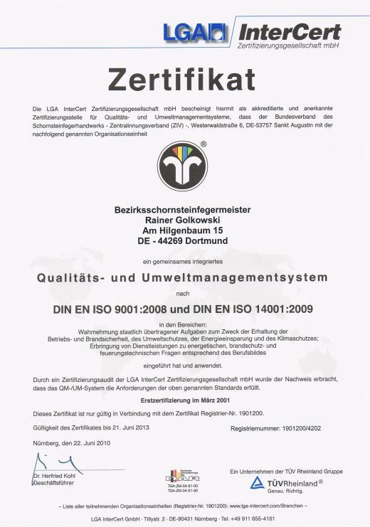 Qualitäts- und Umweltmanagementsystem - Rainer Golkowski